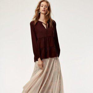 Aritzia Wilfred Odette Blouse Size XS